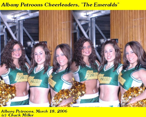 Albany Patroons Emeralds dance team, 2006.  Photo by Chuck Miller.