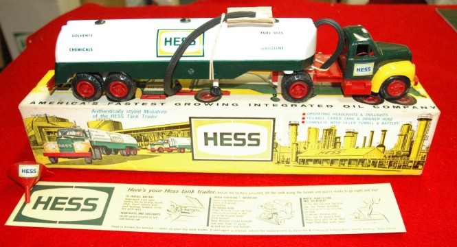 1964 Mack B Hess Toy Truck, with funnel and inserts.  Photo by Chuck Miller.