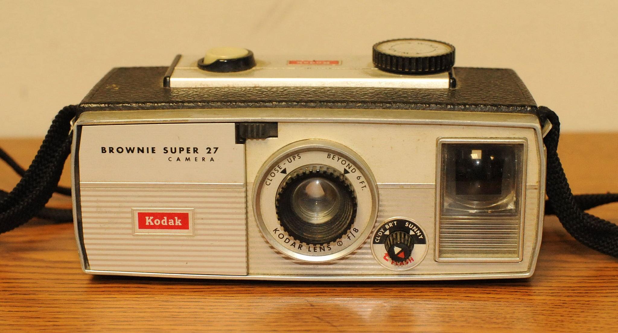 "Kodak Brownie ""Super 27"" camera.  Photo by Chuck Miller."