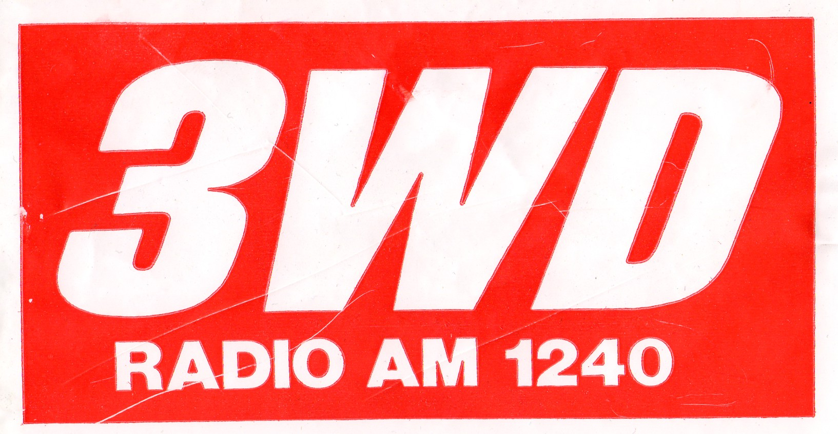 bumper sticker for radio station 3WD